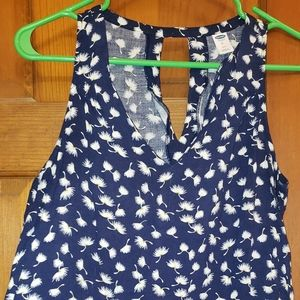 Old Navy Petite Blue Open-Back Dandelion Tank